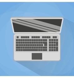 Laptop Top View vector image vector image