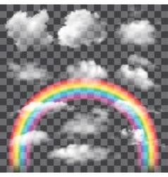 Set of Transparent Clouds vector image