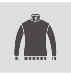 Sweater icon on background vector image vector image