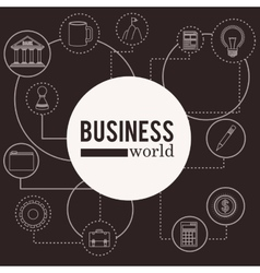 business world design vector image