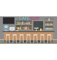 cafe bar interior vector image