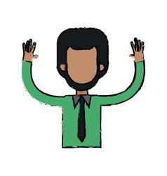 character man waving hand people image vector image