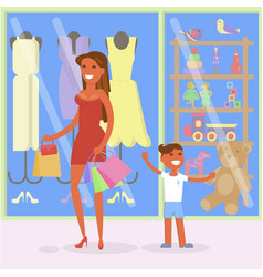 family sale shopping concept vector image vector image