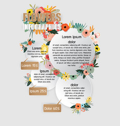 flowers infographics vector image