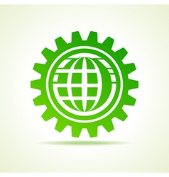 Global shape design in gear concept vector