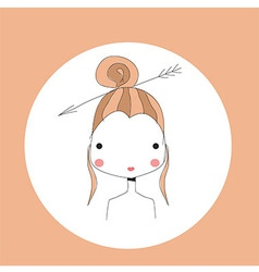 Horoscope sagittarius sign girl head vector