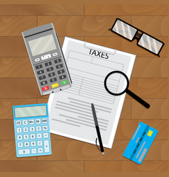 Accounting tax paying vector