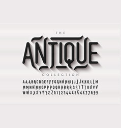 antique style font vector image