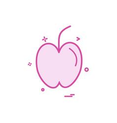 Apple fruit study icon design vector