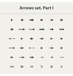 Arrow icon setPart I vector image