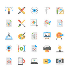 Art and design icons vector