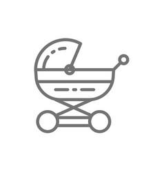 bacarriage stroller for newborn pram line vector image