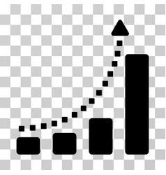 Bar chart trend icon vector