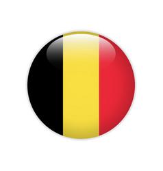 belgium flag on button vector image