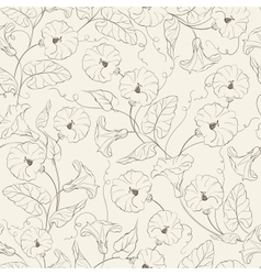 Bindweed flower seamless pattern vector image