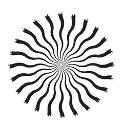 Black and White Abstract Psychedelic Art vector