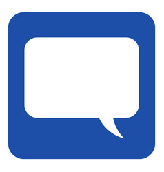 Blue white information sign speech bubble icon vector