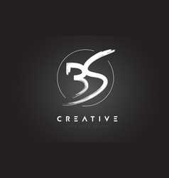 Bs brush letter logo design artistic handwritten vector