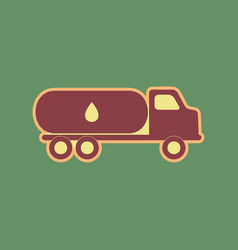 Car transports oil sign cordovan icon and vector
