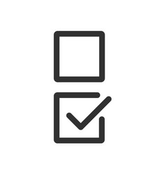 Checkbox set with blank and checked checkbox line vector