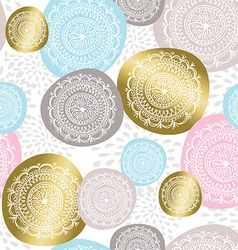 Christmas ornament background in gold color vector