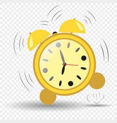 clock alarm clock seven hours jumping ringing vector image