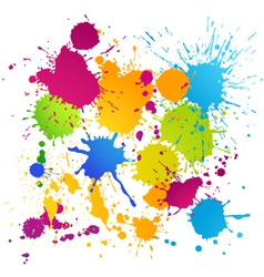Colorful ink blots vector image