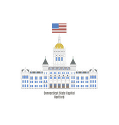 Connecticut state capitol vector