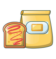 crack bakery icon cartoon style vector image