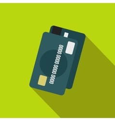 Credit card icon flat style vector image