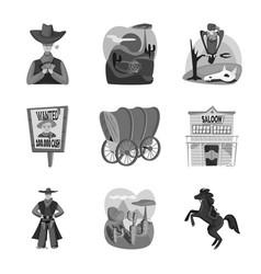 Design ranch and farm logo collection vector