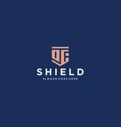df shield logo vector image