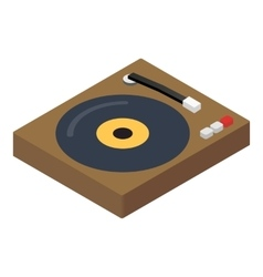 DJ console isometric 3d icon vector