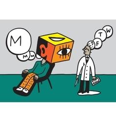 Doctor psychiatrist and patient vector