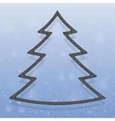 Falling snow Silver Sequins Christmas tree vector image
