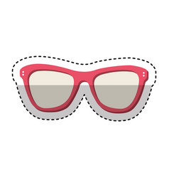 fashion glasses summer icon vector image