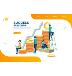 Financial growth and success concept vector