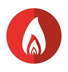 Fire flame burning hot design red circle vector