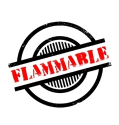 Flammable rubber stamp vector image