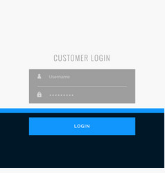 flat login form template design for your web or vector image
