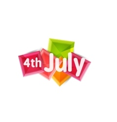 Fourth july geometric banner vector image
