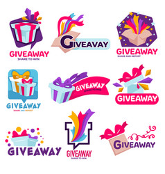 Giveaway banner for social media contests vector