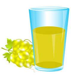 Glass of grape juice vector