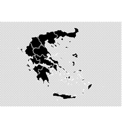 greece map - high detailed black map with vector image