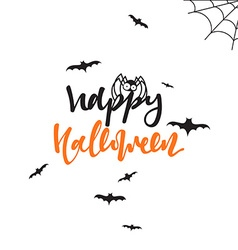 Happy halloween inscription Hand Lettering for vector image