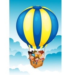 Hot air balloon Trip vector image