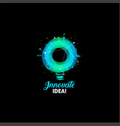 Innovate idea logo light bulb abstract vector