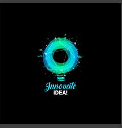 innovate idea logo light bulb abstract vector image