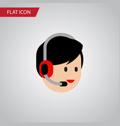 Isolated help flat icon operator element vector