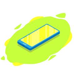 Isometric modern phone mock up mobile vector